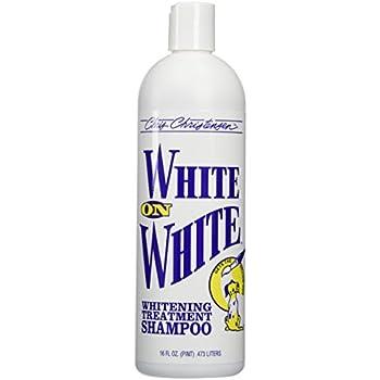 white on white dog shampoo
