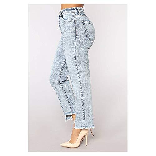 Slim Buco Orlo Blue Jeans Moda Asimmetrico Donna Uqqw8fH7