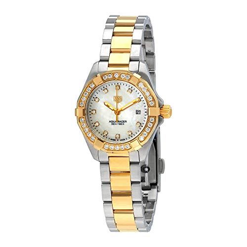Tag Heuer Aquaracer Diamond White Mother of Pearl Dial Ladies Watch WBD1423.BB0321 ()