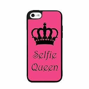 Selfie Queen - iPhone 5C Case Black Back Cover