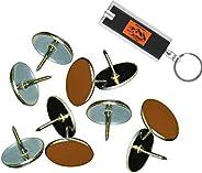 Brown Reflective Tacks (Pack of 100) Trail Marking Tacks, Glow Tacks, Hiking Markers, Trail Marking Reflectors
