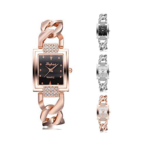 SuperUS Women's Parker Rose Gold-Tone Watch Women's Eco-Drive Watch with Swarovski Crystal Accents, P031 (Rose Gold)