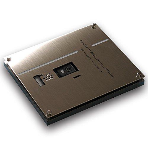表札 インターホンカバー表札CASAシリーズ あかりMintタテ形【220mm×260mm×厚さはインターホンに合わせ製作】(ステンレス製)(ステンレスヘアーラインorステンレスバイブレーションが選べます)   B00HR0ZJWU