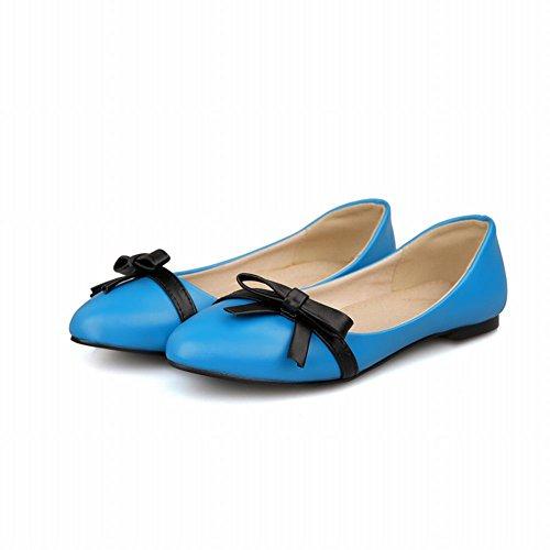 Carol Scarpe Chic Donna Colori Assortiti Bowkonts Polsini Eleganti Casuali Scarpe Blu