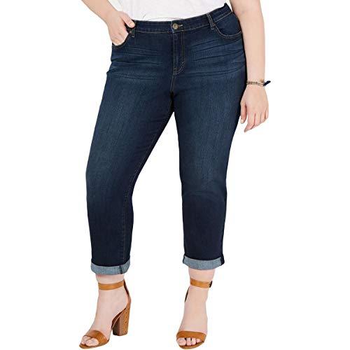 Style & Co. Womens Plus Denim Dark Wash Boyfriend Jeans Blue 16W -  54828W