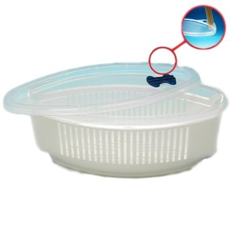 Microwave 3 part steamer set for Pasta Vegetables And Potatoes | No Mess, Sticking or Waiting for Water to Boil by River Charms (Image #1)