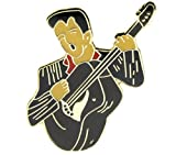 Pin for Jackets - Elvis Presley on Guitar Hat or Lapel Pin - Accessories for Men and Women