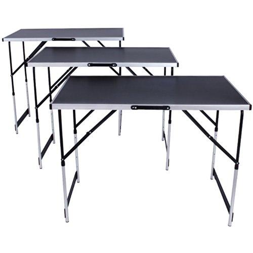 Mesa de trabajo de aluminio para empapelado, plegable, de 300x 60cm; ideal para camping, picnic