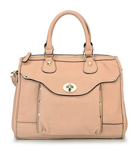 rimen-co-womens-high-quality-front-pocket-top-zipper-closure-doctor-style-tote-bag-handbag-rx-1664-b