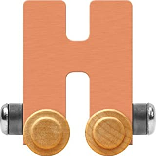 product image for Maple Landmark NameTrain Pastel Letter Car H - Made in USA (Orange)