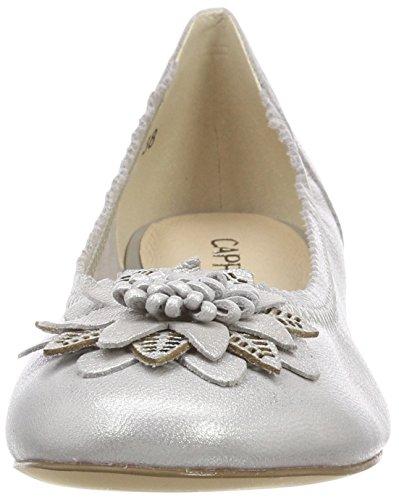 22103 Argento Ballerine Donna Caprice silver Metal 920 PdqHxx7Z