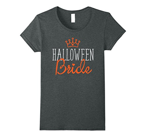 Funny Married Couple Costumes (Womens Halloween Wedding Couple Shirt Matching Funny Bride Costume XL Dark Heather)