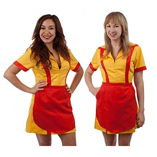 2 Broke Girls Max and Caroline Diner Waitress Costume (Small/Medium)]()