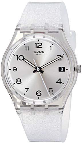 Swatch 1610 New Core Quartz Silicone Strap, Transparent, 16 Casual Watch (Model: GM416C)