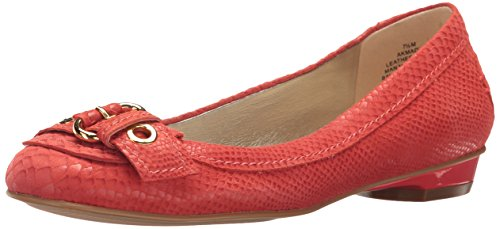 Anne Klein Women's Mady Reptile Loafer Flat, Medium Orange, 7 M US by Anne Klein