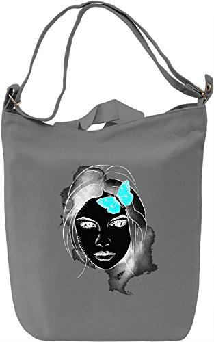 Girl With Butterfly Borsa Giornaliera Canvas Canvas Day Bag| 100% Premium Cotton Canvas| DTG Printing|