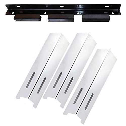BBQ grillware GSF2616, 41590 Repair Kit Includes 3 Stainless Heat Shields and 1 Burner Support Bracket ()