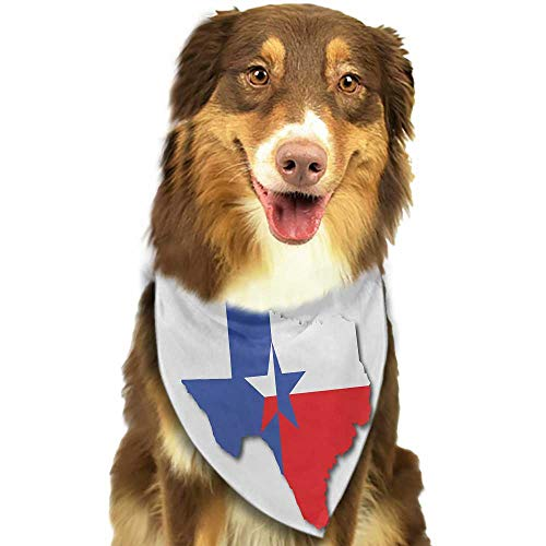Colored pet Scarf Texas Star Outline of The Texas Map American Southwest Austin Houston City W27.5 xL12 Scarf for Small and Medium Dogs and Cats ()