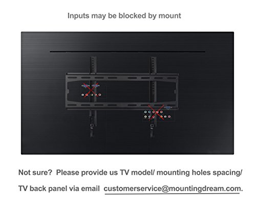 Mounting Dream MD2361-K Low profile TV Wall Mount Bracket for Most 26-55 Inch LED, LCD and Plasma TVs up to VESA 400 x 400mm and 100 LBS Loading Capacity