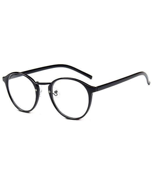 f72dcc9358e9c Retro Anteojos Lente Claro Gafas gafas transparentes Para Mujer y Hombre   Amazon.es  Ropa y accesorios