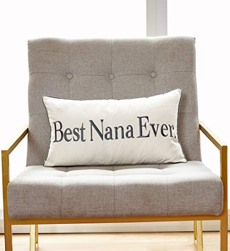 Sanmetex Thanksgiving Day Best Nana Ever Gift Ideas for Grandma Birthday Gift Cotton Blend Lumbar Decorative Throw Pillow Case Cushion Cover 12