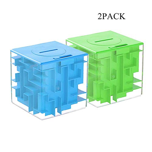 LIGHTTHEBO Money Maze Puzzle Box Gift Money Puzzle, Funny and Cool Brain Teasers for Kids - Safe for Boys, Girls, Teens(2PACK)