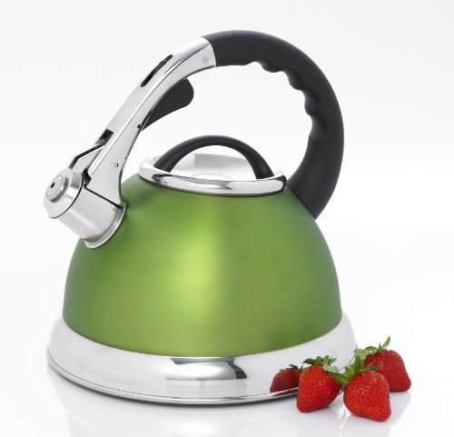 Creative Home 77033 Camille Stainless Steel Whistling Tea Ke