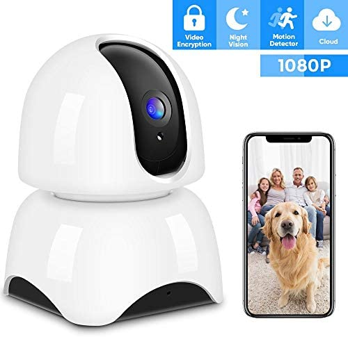 IP Camera Wireless 1080P, Home Security Camera WiFi Baby Monitor Indoor Camera with Night Vision Motion Detection Two-Way Audio for Baby Elder Pet Monitor Cloud Service Available