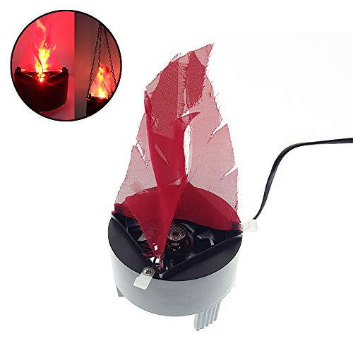 Simulation Fire LED Fake Flame Artificial 3D Flame Campfire Centerpiece for Halloween,Christmas,Festival Clubs,Party and Stage Decoration with 15.6''/40cm Lanyard (US Standards Plug) -