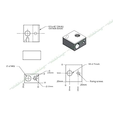 Amazon.com: WAHHING DIY Metal Hot End M6 1.75mm Filament 0.4mm Nozzle For MK8 RepRap 3D Printer: Industrial & Scientific