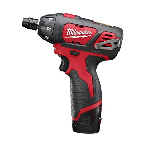 Milwaukee M12 12-Volt Lithium-Ion 1/4 in. Hex Cordless Screwdriver Kit | Hardware Power Tools for Your Carpentry Workshop, Machine Shop, Construction or Jobsite Needs (12v 4ah Battery Ac)