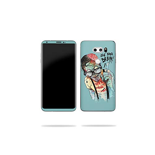 MightySkins Skin for LG V30 - Use Your Brain | Protective, Durable, and Unique Vinyl Decal wrap Cover | Easy to Apply, Remove, and Change Styles | Made in The USA -