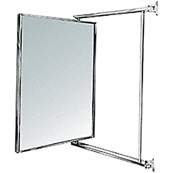 Hinged bathroom mirrors