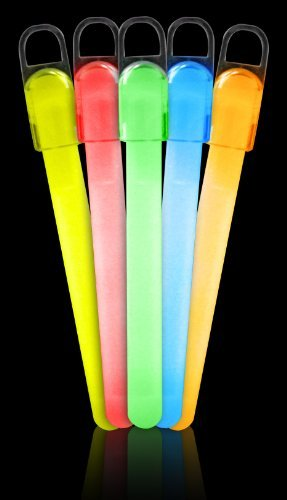 "25 6"" Standard Glow Sticks Assorted Colors"