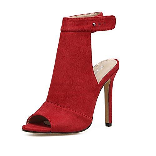 Tacco moda di Rosso alto alto alto tacco di da sposa Estate Bocca Scarpe   66455b