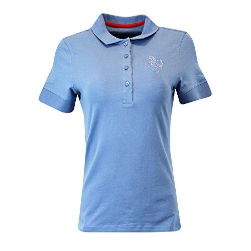 (Ladies Ferrari Cavallino Rampante Polo Shirt S Light Blue)