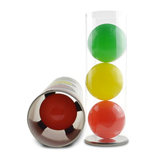 bigbao Miracle Balls Magic Tricks, Magic Ball Traffic Light Color, Close Up,Stage,Classic Toys,Illusion,Gimmick,Prop,Funny,Mentalism Magic