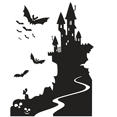 [Charberry Castle Halloween Wall Sticker Window Home Decoration Decal Decor] (Horror Makeup Value Kit)