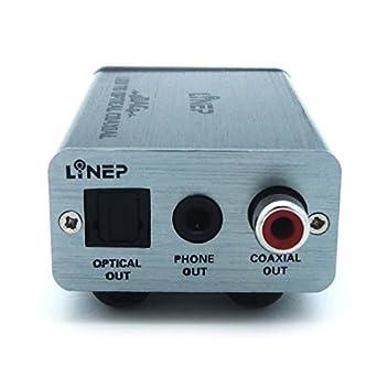 julyfox USB DAC auriculares amplificador de audio USB a óptico Coxial teléfono Out para salida de
