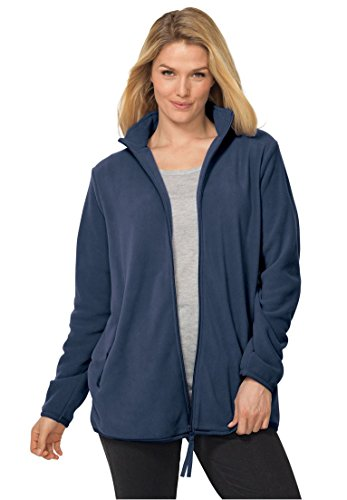Woman Within Women's Plus Size Cozy Zip-Front Jacket In Anti-Pilling Fleece by Woman Within