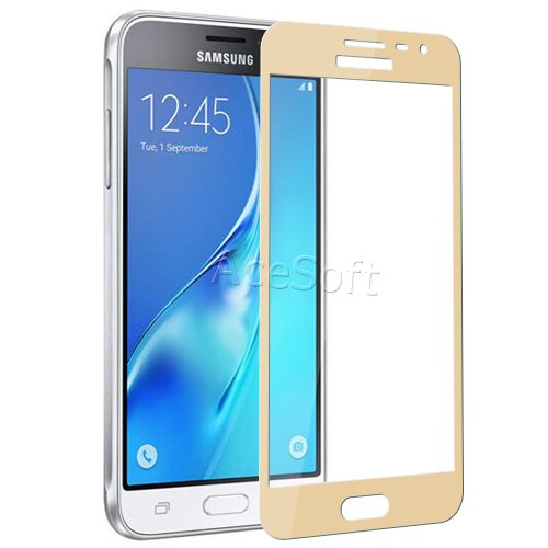 Full Coverage Ultra-Crystal Clear Anti-Scratch Tempered Glass Screen Protector [Easy to Install] for Samsung Galaxy J3 LTE J300M Net10 Android phone by ReelWonder