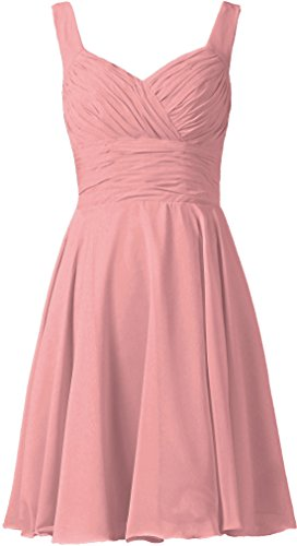 ANTS Women's V-Neck Chiffon Bridesmaid Dresses Short Prom Gown Size 10 US Blush