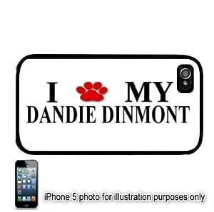 Dandie Dinmont Paw Love Dog Apple iPhone 5 Hard Back Case Cover Skin Black