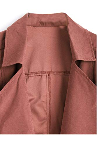 Femme Printemps Blouson Trench BOLAWOO El Automne Swv04Cq