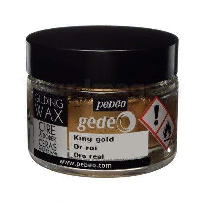 Pebeo Gedeo Gilding Paper Craft Wax 30ml Tub Pot - King Gold ()
