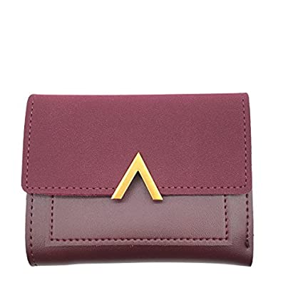 Amazon.com   JD Million shop Matte Leather Small Women Wallet Luxury Brand  Famous Mini Womens Wallets And Purses Short Female Coin Purse Credit Card  Holder ... 2aab7bdc6b