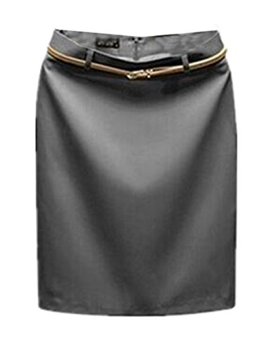 Aoliait Jupe Tendance en Grey Haute Jupe t Jupe Commercial Fit Slim Jupe Jupe ElGant Court Femme Skirt Taille Femelle TarwU7T