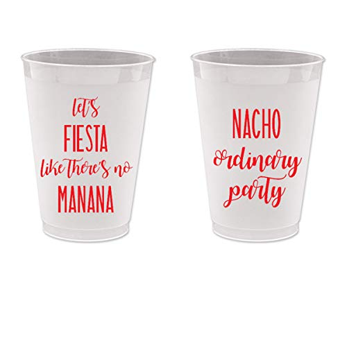 Let's Fiesta Like There's No Manana, Cinco de Mayo, Frost Flex Plastic Cups ()