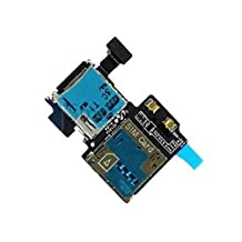 Sim Reader for Samsung Galaxy S4 I337 AT&T SD Card Reader Holder Slot Flex Cable Replacement Part with adhesive underside incl 2x screwdriver for easy installation by MMOBIEL