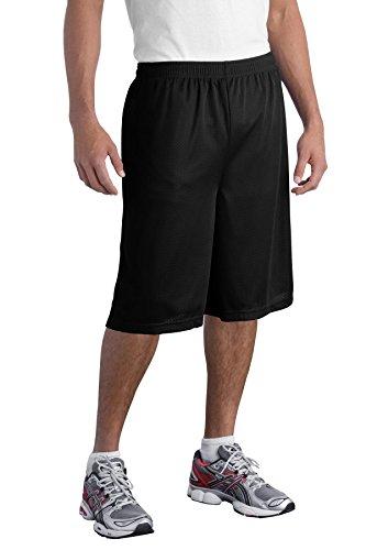 Sport-Tek Men's Extra Long PosiCharge Classic Mesh Short 4XL Maroon -